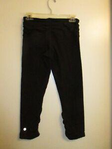 Lululemon-Athletica-6-Embrace-Crop-Pants-Legging-Black-Ruched-Yoga-Run-Gym-FLAW