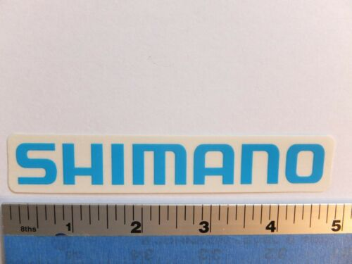 4.75 SHIMANO Blue on Clear MTB Road bmx Bike Ride Run Outdoor - STICKER DECAL
