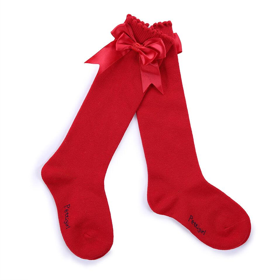 Baby Girls Knee High Bow Socks Multi color Toddler Kids
