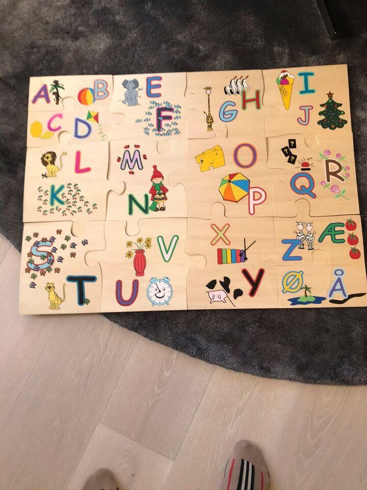 Alfabet , Alfabet i træ , puslespil