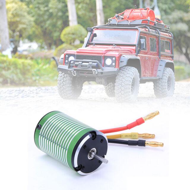 60A ESC for 1//10 RC Car Rock Crawler Waterproof 3650 3500KV Brushless Motor