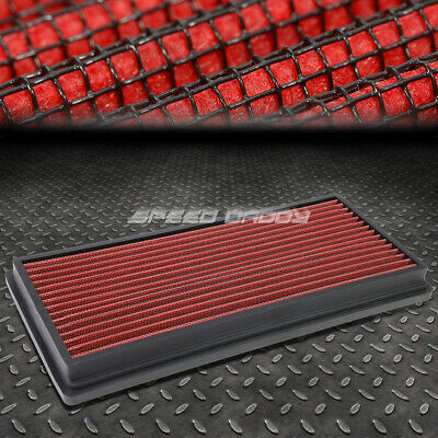 Fit 97-06 Jeep Wrangler Red Reusable//Washable Drop In Air Filter Panel