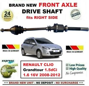 FOR RENAULT CLIO Grandtour 1.5dCi 1.6 16V 2008-2012 FRONT AXLE RIGHT DRIVESHAFT