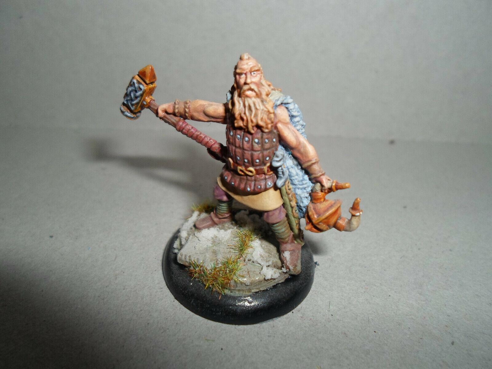 Barbarian Warrior Pro-pintado En Miniatura