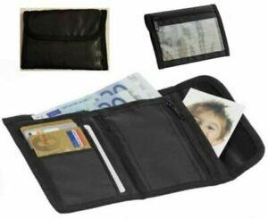 Herren Geldbörse mit Klettverschluss Geldbeutel