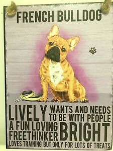 FRENCH BULLDOG ( FRENCHIE ) ~  DOG BREED METAL SIGN~ MEDIUM  ~ NEW