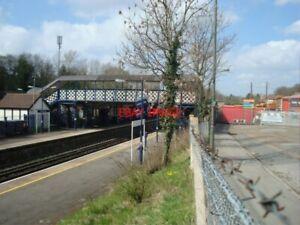 PHOTO-WEST-WICKHAM-RAILWAY-STATION-AND-FOOTBRIDGE