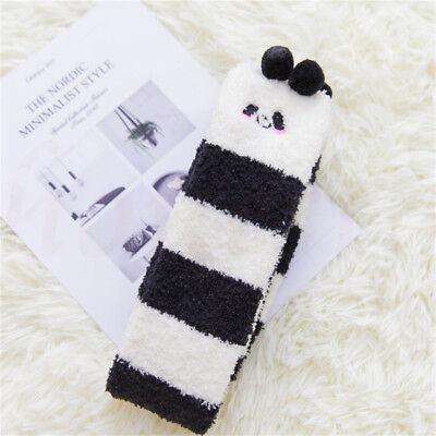 Women Novelty Over Knee Thick Fluffy Animal Socks Warm Soft Gift Christmas Socks