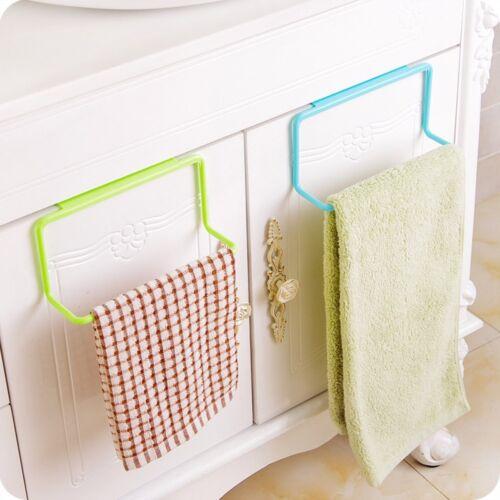 Towel Rack Hanging Holder Organizer Bathroom Kitchen Cabinet Cupboard Hanger