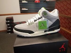 1dad8323cbe742 Brand New in Box Air Jordan AJ3 Men s Retro 3 Tinker Chlorophyll ...