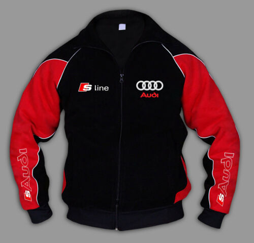 AUDI S LINE Jacket rs Sweatshirt EMBROIDERY Made in EUROPE Cotton blend S M-6XL