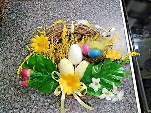 Floral Wreath 18cm Easter Door Wreath Rabbit Wreath 46x23cm Easter Hanging