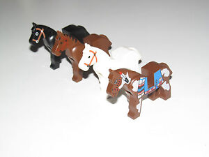 Lego-Minifig-Cheval-Horse-Choose-Color-ref-4493