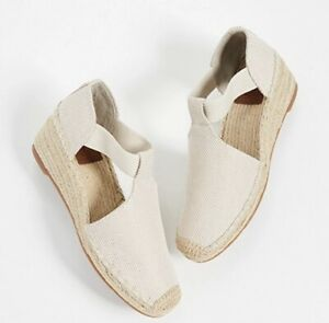 7eacf4e3f06 Details about NEW Tory Burch Catalina Espadrille Wedge Natural Sz 8