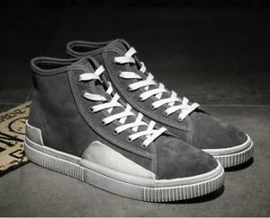 New Youth Mens Fashion Lace Up Sneakers Students Retro High Top ... 2ca481bad5aa