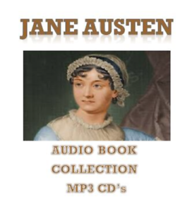 Jane Austen Audio Books Complete Collection 10 x MP3 CD's 80 Hours Unabridged
