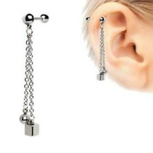 316L-Stainless-Steel-Chained-Ball-N-Cube-Cartilage-Earring