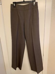Etro-Women-Gray-Brown-Wool-Pants-42-IT