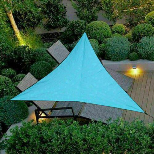 Triangle Sun Shade Sail Waterproof Outdoor Yard Garden Patio Top Cover 6 Color
