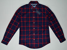 NWT TOMMY HILFIGER men's Casual Long Sleeve Shirt, S, Small, Blue & Red, Plaids