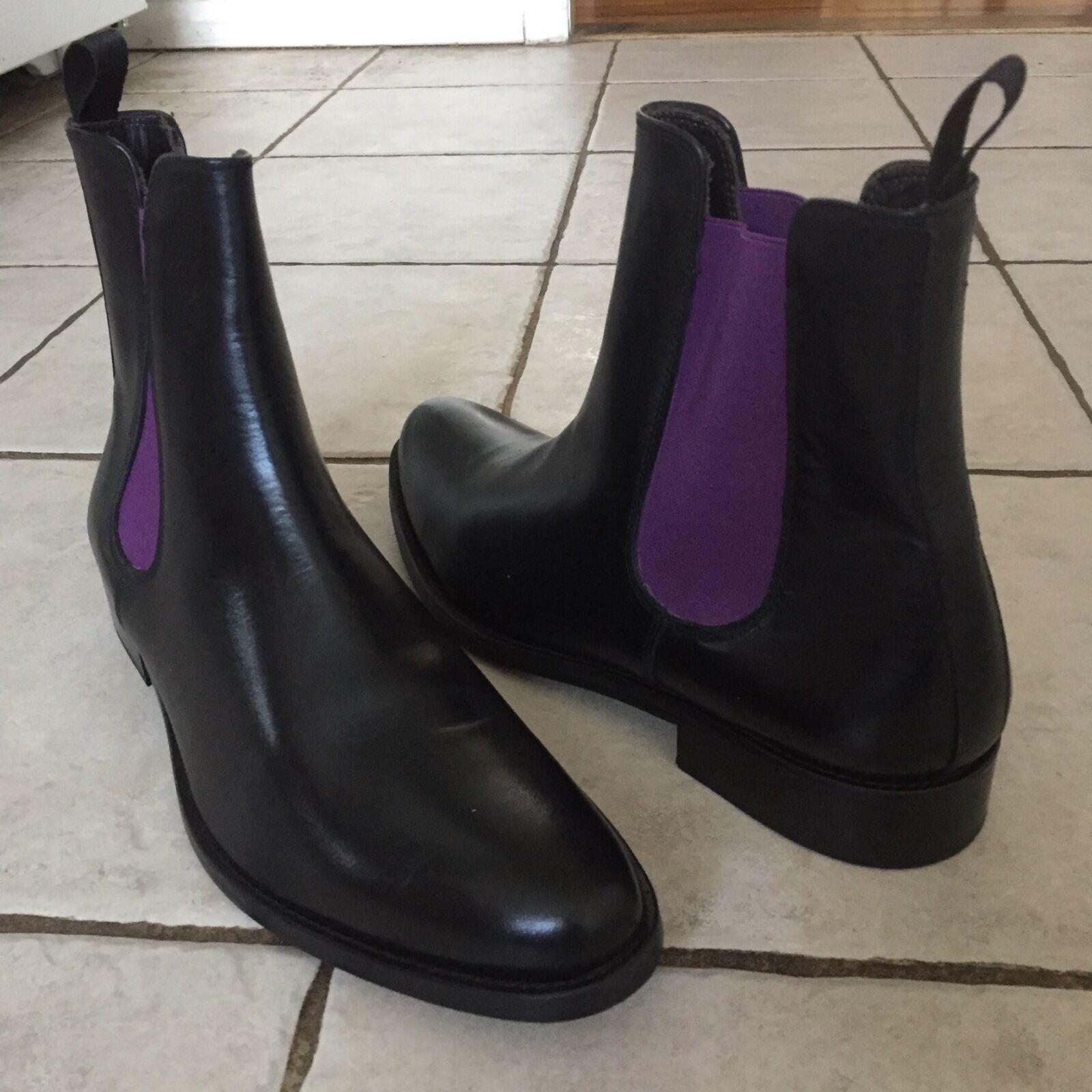 Del vestido negro de Chelmar zapatos   tobillos.Fabricado en Italia por 10   de los EE.UU.