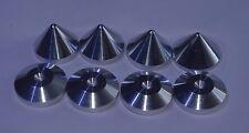 - BRITISH Made -ALUMINIUM- 4 x  Speaker Spikes + 4 x Spikes Shoes - HIFI Stands