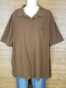 Polo-Ralph-Lauren-Brown-Classic-Polo-Shirt-Mens-Size-3XLT-Tall