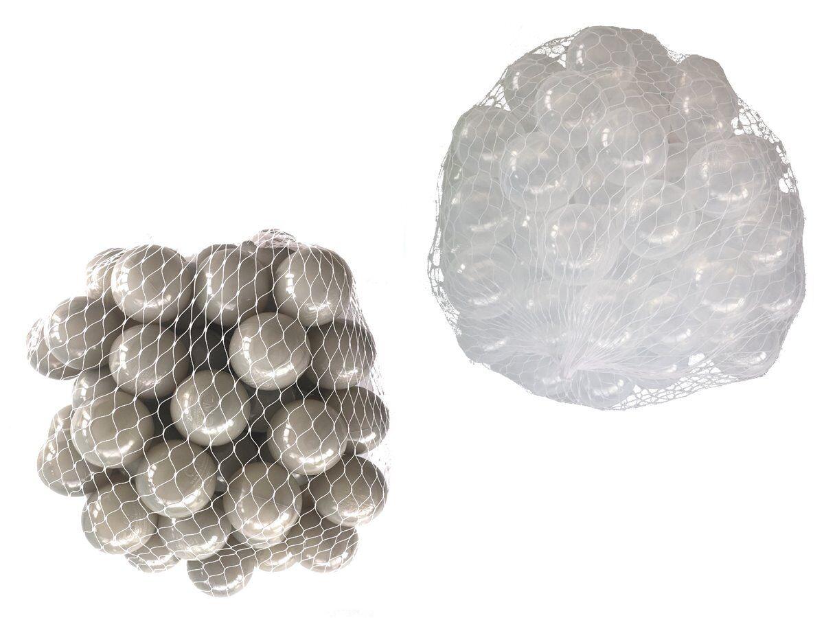 100-10000 Bällebad Bälle 55mm mix transparent grau gemischt Farben Baby Kind