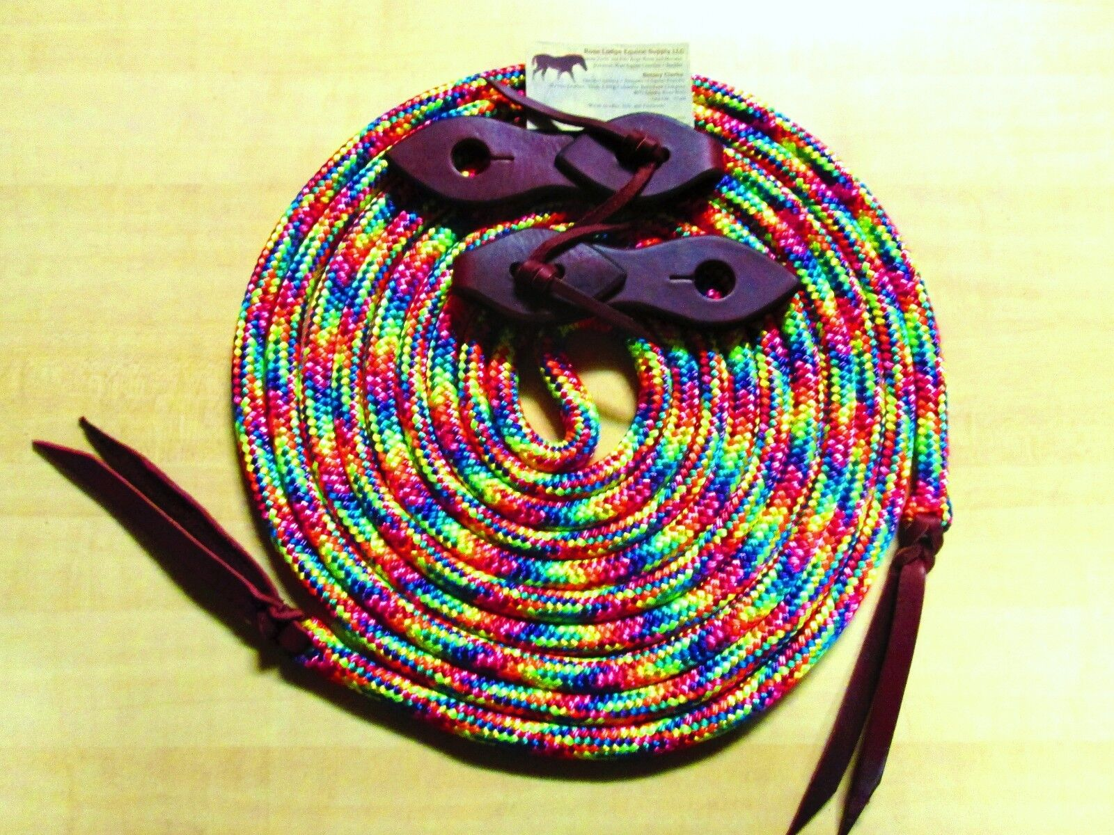 22' RAINBOW Yacht Rope Mecate, Teardrop Slobber  Straps By pink Lodge Equine USA  choices with low price