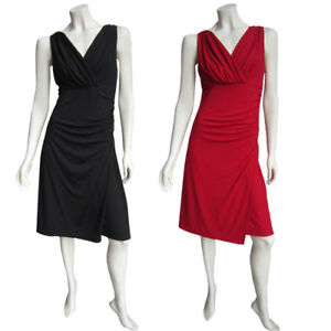 New-Ladies-Eversun-Stretch-Cocktail-Evening-Dress-Smart-Black-or-Red-Size-10-20