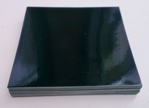 150mm 10 X BLACK GLOSS TILE TRANSFERS STICKERS 6/""