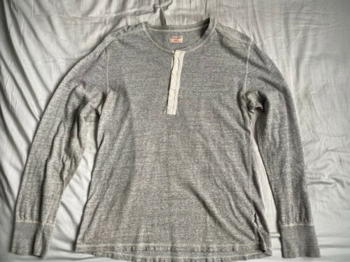 Homespun Knitwear Men's X Large Coalminers Henley… - image 1