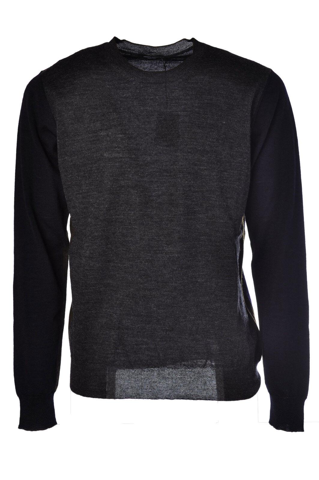 Roberto Collina - Knitwear-Sweaters - Man - Grau - 473811M184431