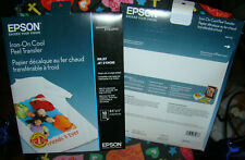 Epson Brand Iron On Cool Peel Transfer Paper 850 X 11 10 Sheets New Sealed