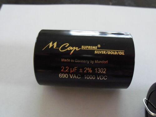 Gold //Oil CAPACITOR 4.7uF 4.7 uf 1000 VDC Mundorf M-CAP® Supreme Silver