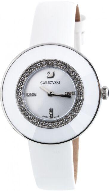 5080504 Swarovski Women's Swiss Watch Quartz Leather White bygf6Y7