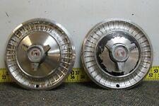 Oem Set Of 2 13 Spinner Hub Caps Wheel Covers 1963 Ford Fairlane 2281
