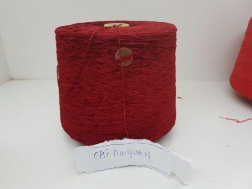 Chenille Kone PES burgund 1,5 kg Nm 6 Wolle Garn Stricken/& Handstricken cf97