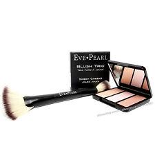 EVE PEARL Blush Trio Sweet Cheeks Shade with Fan Highlighter Brush 204 -NIB-