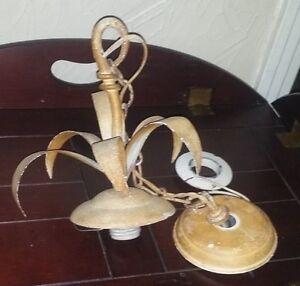 Vintage Toleware Chandelier Parts Ceiling Lighting Fixture Parts ...
