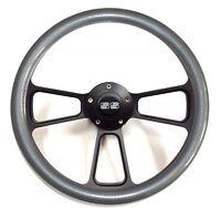 1969 - 1994 Chevelle Carbon Fiber Steering Wheel Black Powder Coat Ss Horn Kit