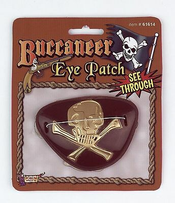 Pirate See-Thru Eye Patch Buccaneer Accessory Costume NEW
