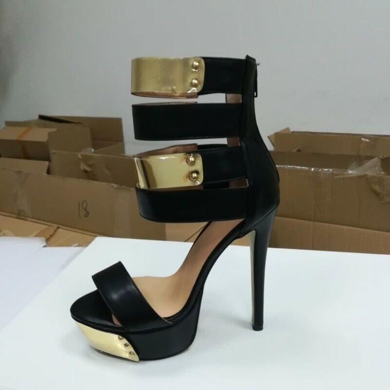Platform High Heels Sexy Womens Heels Heels Heels Sandals Black shoes Europe All US Size 7c5056