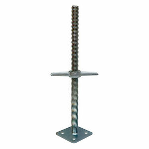 "ALBP Leveling • Leveling jack w/ base plate 1-3/8"" diameter - Scaffolding"