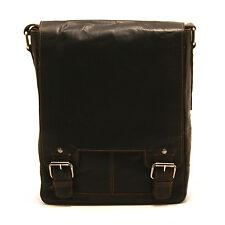 Ashwood - Brown Crumble Leather Kingston A4 Messenger Bag with iPad Pocket