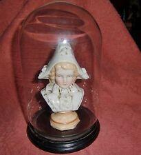 Victoriano Continental Porcelana Figura De Cúpula De Cristal