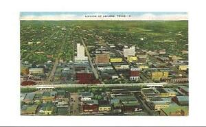 ABILENE-TX-TEXAS-Vintage-Aerial-View-1952-Postcard