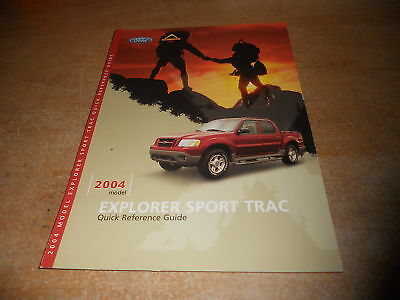 ford explorer sport trac quick reference owners ma ebay