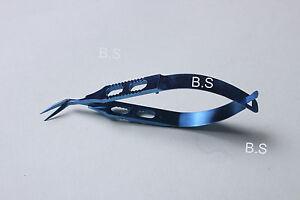 Titanium-Gills-Welsh-Vannas-Capsulotomy-Scissors-Sharp-Tip-Ophthalmic-Eye-SI94