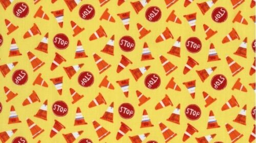 Dear Stella Play Date 111 Yellow Cone Toss Cotton Fabric FREE US SHIPPING